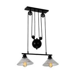 Laxmi 9.1 in. 2-Light Indoor Black Finish Chandelier with Light Kit