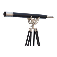 Floor Standing Brushed Nickel With Leather Anchormaster Telescope 65''
