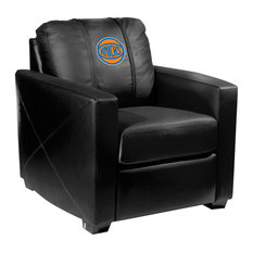 New York Knicks NBA Silver Chair With Secondary Logo Panel