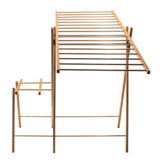 Walnut and Stainless Steel Clothes Dryer