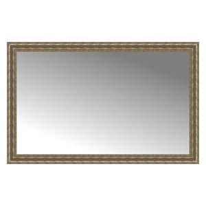 """55""""x35"""" Custom Framed Mirror, Distressed Silver"""