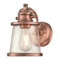 """Westinghouse 6361000 Emma Jane 1 Light 10"""" Tall Outdoor Wall - Copper"""