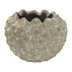 Planter Vivo Coral Texture Vessel, Warm White Wash