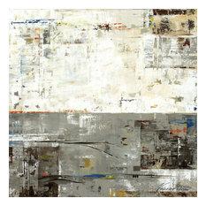 "Gray Zone II Fine Art Giant Canvas Print, Gray, Beige, 72""X72"""