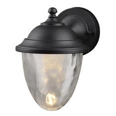 Black Outdoor Patio Exterior LED Light Fixture, 21-9464-Large