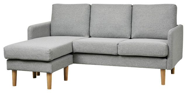 Fantastic Shoptagr Fernley Chambray Reversible Sectional Sofa Bralicious Painted Fabric Chair Ideas Braliciousco