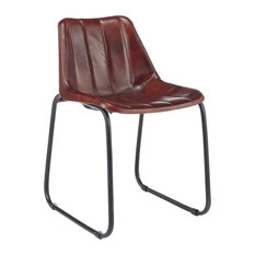 Panelled Leather Club Chair