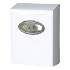Solar Group Dvkw0000 Mailbox White Vertical Mount Lockable