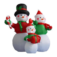 northlight seasonal 4 inflatable lighted snowman family christmas yard art decoration outdoor holiday