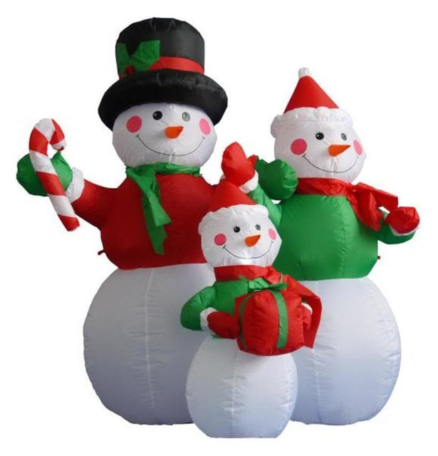 Outdoor Lighted Snowman 4 inflatable lighted snowman family christmas yard art decoration 4 inflatable lighted snowman family christmas yard art decoration workwithnaturefo
