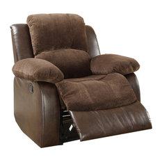 Homelegance Cranley Reclining Chair Brown Microfiber
