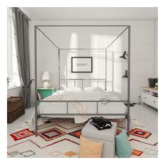 Novogratz Marion Canopy Bed, Gunmetal Gray, Full