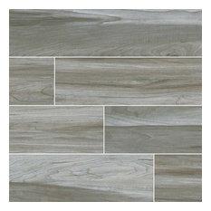 Carolina Timber Gray Matte Ceramic Tile, Sample