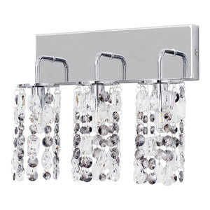 Marquis by Waterford, Lagan LED 3 Light Bathroom Wall Light, Chrome