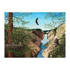 "Mike Bennett New Life Near Yellowstone Falls Art Print, 9""x12"""