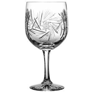Monika Pinwheel Lead Crystal Red Wine Glasses, Large, Set of 6