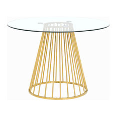 Gio Gold Dining Table, Gold Base