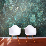 Murals Your Way - Copper Mineral Texture Wallpaper Mural, Medium - Create a contemporary style in your home with the Copper Mineral Texture wallpaper mural. The blue color and textural details will add interest to your walls.
