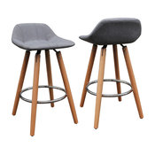 Inspire Counter Stools, Set of 2, Natural
