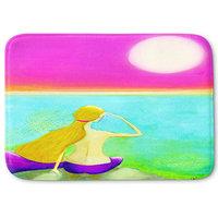 """Mermaid Moon Memory Foam Bath Mat, 24""""x17"""""""