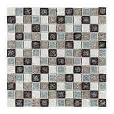 """12""""x12"""" Abbey Glass Mosaic, Set of 10, 10 Sheets"""