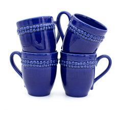 Sarar 4 Piece Mugs, Blue