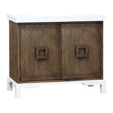 Stein World Transitional Tower Top 2-Door Cabinet In Brown Finish 17301