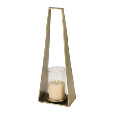 Candle Holder With Hurricane Glass