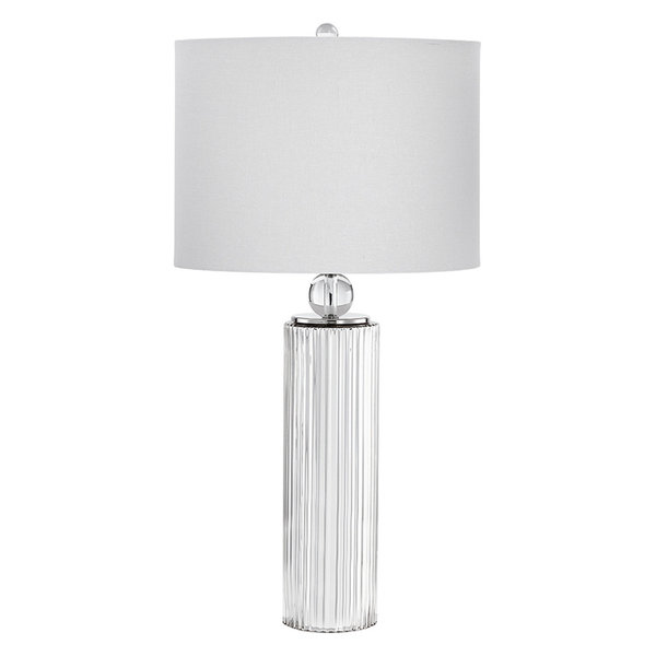 Astra 1-Light Table Lamp in Nickel with CFL