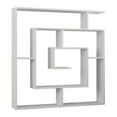 Decortie Design Inc - Labirent Bookcase, White - Bookcases