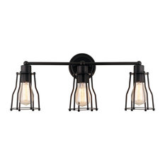 "JONATHAN Y Lighting JYL7421 Florence 3 Light 24""W Bathroom Vanity - Bronze"