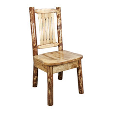 Glacier Country Collection Side Chair With Ergonomic Wooden Seat