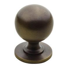 """K-5 1-1/4"""" Smooth Round Knob, Antique"""