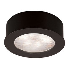 WAC Lighting LED Button Light, Black, Round, 3000k Soft White
