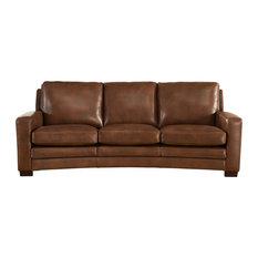 Joanna Leather Craft Sofa, Brown