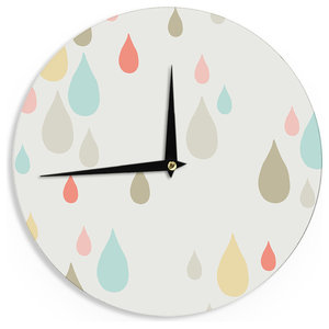 """Very Sarie """"Rainy Days"""" Multicolor Rain Wall Clock"""