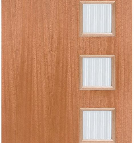 5 Lite Mid Century Modern Entry Door   Front Doors