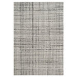 Safavieh - Caleb Hand Tufted Rug, Gray/Black, 6'x9' - Material: 20% Wool / 30% Viscose /  50% Polyester / Manufacturing Method: Hand Tufted  / Care: Vacuum Regularly To Prevent Dust And Crumbs From Settling Into The Roots Of The Fibers. Avoid Direct And Continuous Exposure To Sunlight. Use Rug Protectors Under The Legs Of Heavy Furniture To Avoid Flattening Piles. Do Not Pull Loose Ends, Clip Them With Scissors To Remove. Turn Carpet Occasionally To Equalize Wear.Remove Spills Immediately