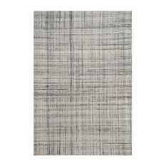 Caleb Hand Tufted Rug, Gray/Black, 6'x9'