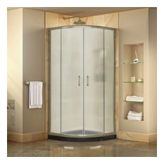 """DreamLine DL-6701-89-04FR Prime 38"""" Shower Enclosure, Brushed Nickel, Black Base"""