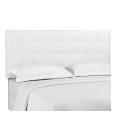 Modway Paisley Tufted Faux Leather Twin Headboard In White
