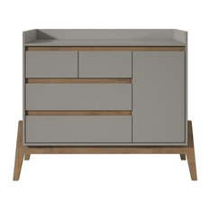 Essence 49-inch Wide Dresser With 4 Full Extension Drawers And Table Top In Gray
