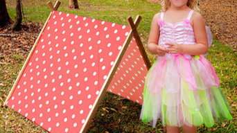 A Frame Collapsible Play Tent (Red) by Curioo Ltd