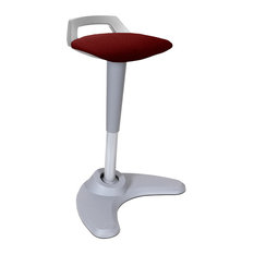 Spry Sit and Stand Ergonomic Office Stool, Maroon and Grey