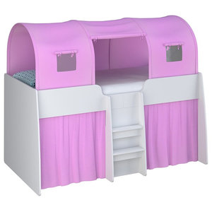 Loft Station Kid's 3-Section Bed Tent, Pink