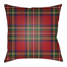 Surya TARTAN II 20  x20   Medium Square Throw Pillow