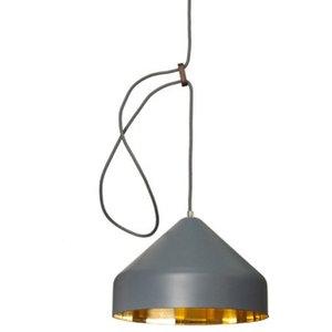 Vij5 Lloop Brass Pendant Lamp, Grey