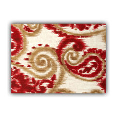 Madalena Swirl Red Indoor/Outdoor Placemats, Finished Edge, Set of 2