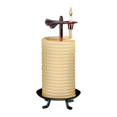 80 Hour Vertical Beeswax Candle Citronella