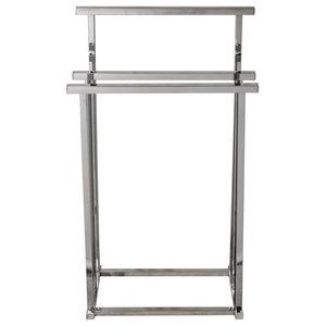 Pizo Metal 3-Rung Bathroom Towel Rail/Drying Rack, Silver
